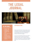 Newstead Legal Journal Published